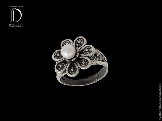 Кольца ручной работы. Ярмарка Мастеров - ручная работа. Купить Кольцо в серебряной филиграни (модель К12). Handmade. Кольцо