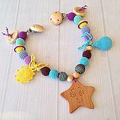 Работы для детей, ручной работы. Ярмарка Мастеров - ручная работа Растяжка на коляску малыша с игрушками. Handmade.