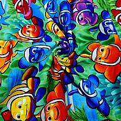 Материалы для творчества ручной работы. Ярмарка Мастеров - ручная работа Американский хлопок. Веселые рыбки.. Handmade.