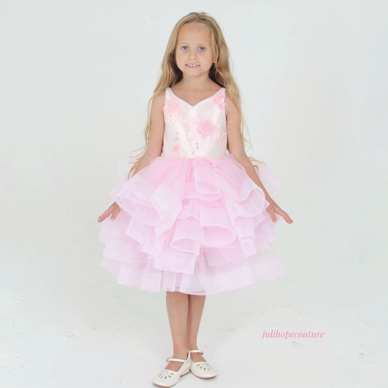 Платье розовое «Floral», Платья, Москва,  Фото №1