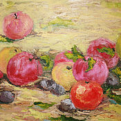 """Картины и панно ручной работы. Ярмарка Мастеров - ручная работа Картина маслом """"Яблочный спас"""". Handmade."""