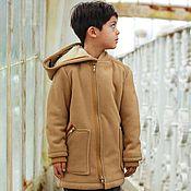 Одежда handmade. Livemaster - original item Warm fleece hooded jacket for boys. Handmade.