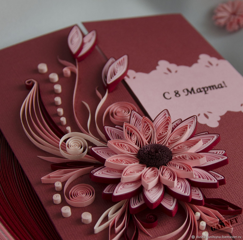 Как сделать открытку в стиле квиллинг на день рождения, открытки