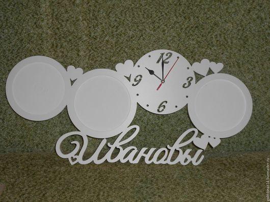 Часы для дома ручной работы. Ярмарка Мастеров - ручная работа. Купить Именные часы. Handmade. Белый, часы, часы настенные