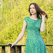 """Одежда handmade. Livemaster - original item """"Ундина""""- платье валяное в технике nunofelting. Handmade."""