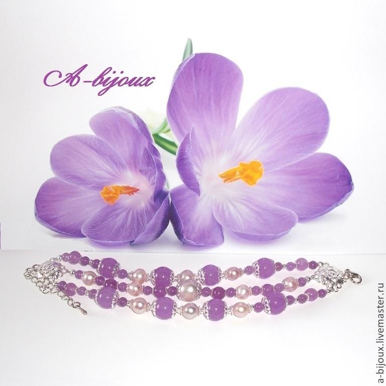 Bracelet - Lavender, Bead bracelet, Moscow,  Фото №1