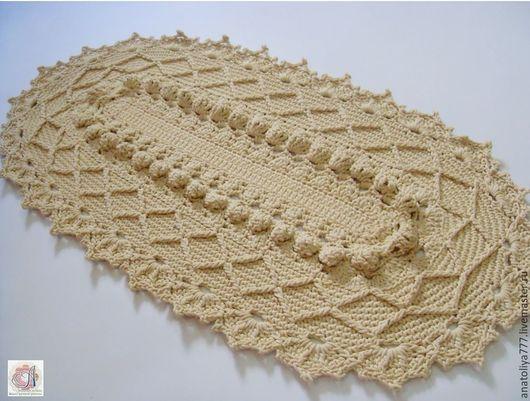Текстиль, ковры ручной работы. Ярмарка Мастеров - ручная работа. Купить Овальный коврик ручной работы из шнура. Handmade. Овальный