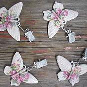 Для дома и интерьера ручной работы. Ярмарка Мастеров - ручная работа Клипсы для скатерти  «Бабочки». Handmade.
