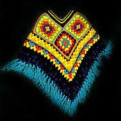 Пончо ручной работы. Ярмарка Мастеров - ручная работа Пончо: яркое в этническом стиле. Handmade.