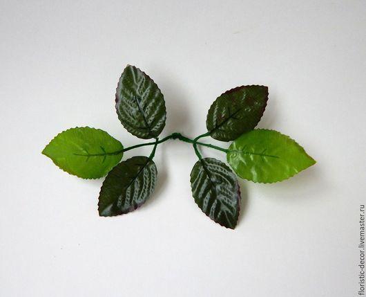 Материалы для флористики ручной работы. Ярмарка Мастеров - ручная работа. Купить Листья розы. Handmade. Зеленый, зелень, зелень для декора