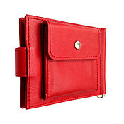 Сумки и аксессуары handmade. Livemaster - original item Standart Pro genuine leather money clip (red). Handmade.