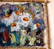 Картины и панно ручной работы. Ярмарка Мастеров - ручная работа Валяная картина Ромашки маленькая. Handmade.