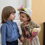 Работы для детей, ручной работы. Ярмарка Мастеров - ручная работа Платье ПЛТ 1011. Handmade.