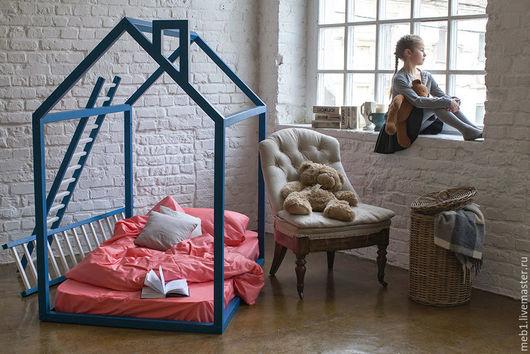 Детская ручной работы. Ярмарка Мастеров - ручная работа. Купить №19. Кроватка-домик. Handmade. Комбинированный, кровать из массива