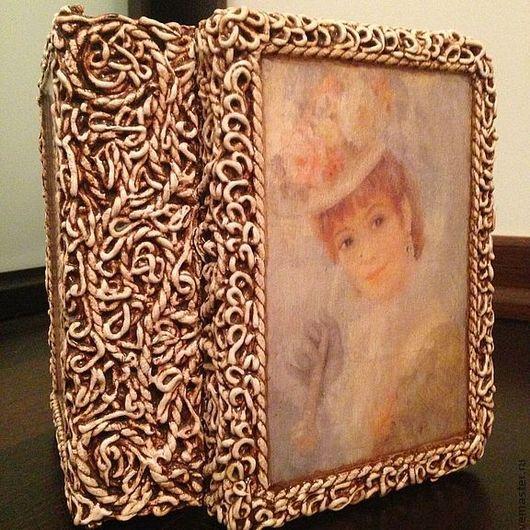"""Шкатулки ручной работы. Ярмарка Мастеров - ручная работа. Купить Шкатулка книга малая """" Леди"""". Handmade. Бежевый, для хранения"""