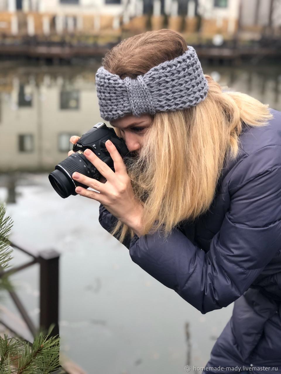 Повязка на голову ТУМАН 100%-шерсть, Повязки, Москва,  Фото №1