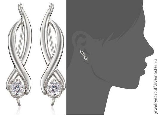 Серьги пины из серебра 925 пробы или Ear pin от Stepan Vasiliev Jewelry.  Ярмарка мастеров-ручная работа. Купить серьги пины серебро 925. Серьги пины ручной работы и подгибаются на любое ушко.