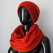 Аксессуары handmade. Livemaster - original item Snood in 2 turnover and double cap from kid-mohair. Handmade.