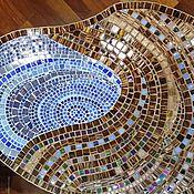 """Для дома и интерьера ручной работы. Ярмарка Мастеров - ручная работа Столик придиванный """"Омут"""" мозаика. Handmade."""