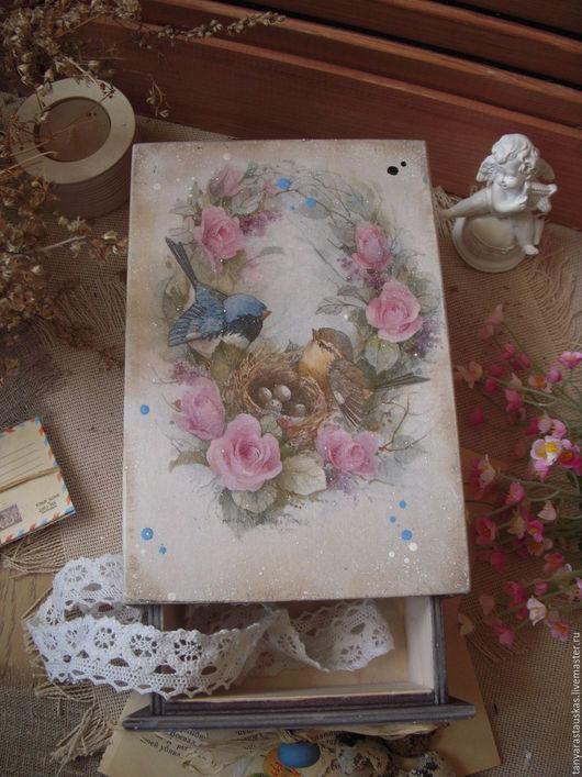 """Корзины, коробы ручной работы. Ярмарка Мастеров - ручная работа. Купить """"Птичий рай"""" короб-пенал. Handmade. Короб для хранения"""