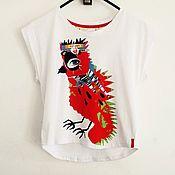 Одежда ручной работы. Ярмарка Мастеров - ручная работа Дизайнерская футболка. Handmade.