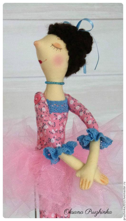 Коллекционные куклы ручной работы. Ярмарка Мастеров - ручная работа. Купить Балеринка Маринка. Handmade. Розовый, кукла текстильная