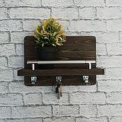 Для дома и интерьера handmade. Livemaster - original item Wooden housekeeper with shelf. Handmade.