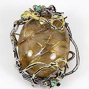 Pendants handmade. Livemaster - original item Large pendant Ariadna silver. Handmade.