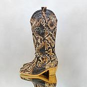 Обувь ручной работы handmade. Livemaster - original item Cowboy boots Python-womens COSSACK. Handmade.