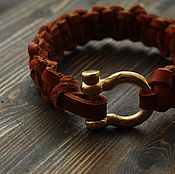 Украшения handmade. Livemaster - original item leather bracelet. Handmade.