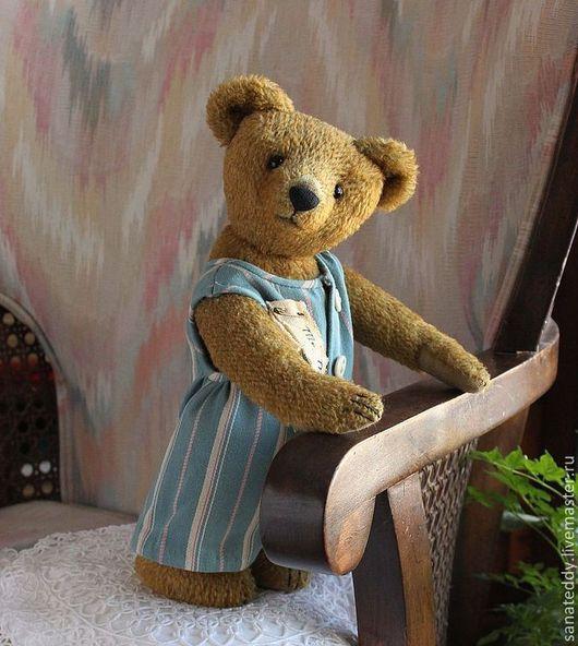 Мишки Тедди ручной работы. Ярмарка Мастеров - ручная работа. Купить Авторский мишка Матраскин (Mr. Mattress). Handmade. Хаки