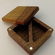 Коробки ручной работы. Ярмарка Мастеров - ручная работа Коробка для колец и украшений из термированного дуба. Handmade.