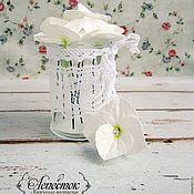 """Украшения ручной работы. Ярмарка Мастеров - ручная работа Шпильки """"Гортензия"""" (белый). Handmade."""