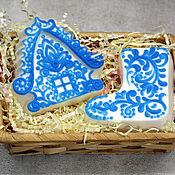 Мыло ручной работы. Ярмарка Мастеров - ручная работа Набор мыла новогодний Морозные узоры. Handmade.