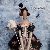 Куклы и игрушки ручной работы. Ярмарка Мастеров - ручная работа кукла тильда ручной работы ДЕВОЧКА И ЛОШАДКА). Handmade.