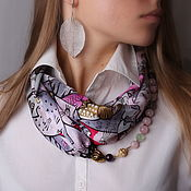 Украшения handmade. Livemaster - original item Necklace-transformer silk