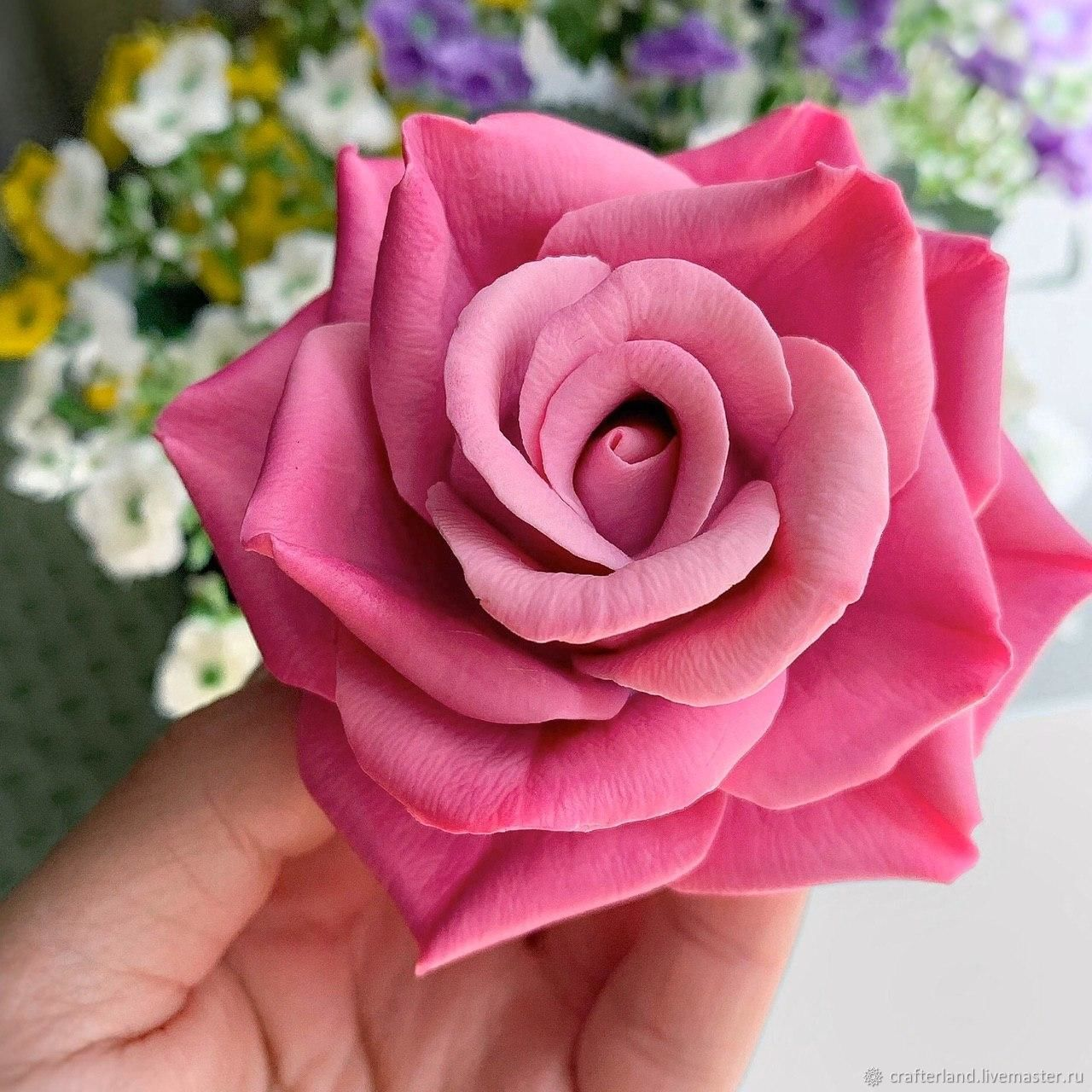 Silicone mold for soap / chocolate ' rose 11', Form, Istra,  Фото №1