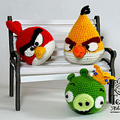 Куклы и игрушки ручной работы. Ярмарка Мастеров - ручная работа Злые птички Angry Birds. Handmade.