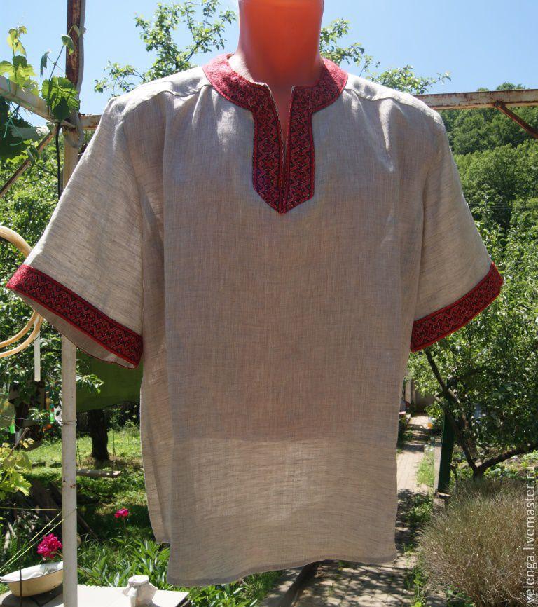 Рубаха летняя с орнаментом, Для мужчин, Геленджик, Фото №1
