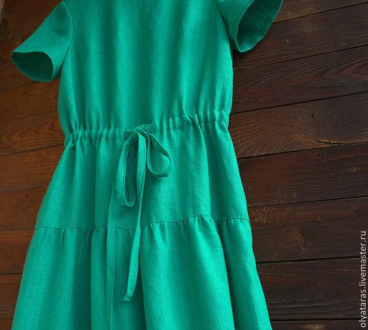 """Платья ручной работы. Ярмарка Мастеров - ручная работа. Купить Платье в пол """"Изумрудные берега"""".. Handmade. Зеленый, платье в пол"""
