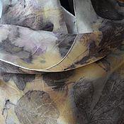 """Аксессуары ручной работы. Ярмарка Мастеров - ручная работа Шелковый шарф """"Шелкографика"""", в эко стиле.. Handmade."""