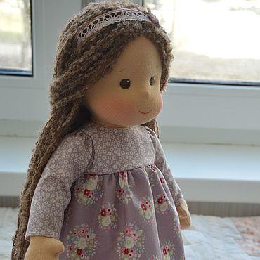 Куклы и игрушки ручной работы. Ярмарка Мастеров - ручная работа Вальдорфская кукла с длинными волосами. Handmade.