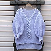 Одежда handmade. Livemaster - original item Sweater with braids hand-knitted