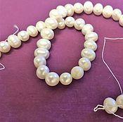 Бусины ручной работы. Ярмарка Мастеров - ручная работа Бусы, браслеты, ожерелье из натурального жемчуга. Handmade.