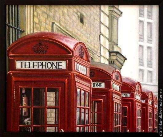 Город ручной работы. Ярмарка Мастеров - ручная работа. Купить Картина маслом. Лондон. Старые связи. Handmade. Комбинированный, Живопись