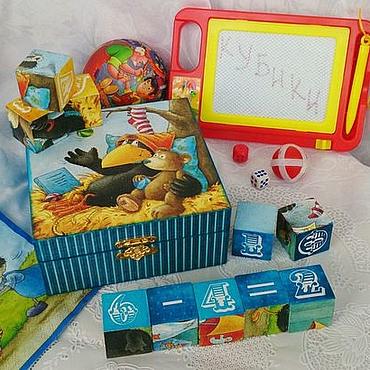"""Куклы и игрушки ручной работы. Ярмарка Мастеров - ручная работа Кубики """"Веселая ворона"""". Handmade."""
