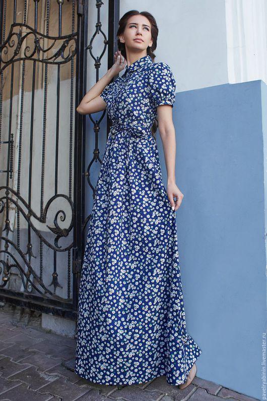 """Платья ручной работы. Ярмарка Мастеров - ручная работа. Купить Платье """"Ромашки"""". Handmade. Комбинированный, платье рубашка, натуральные ткани"""