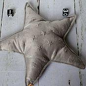 Для дома и интерьера ручной работы. Ярмарка Мастеров - ручная работа Подушечка-звезда из плюша минки. Handmade.