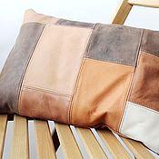 Для дома и интерьера ручной работы. Ярмарка Мастеров - ручная работа Подушка 40х29 см/коричневый. Handmade.