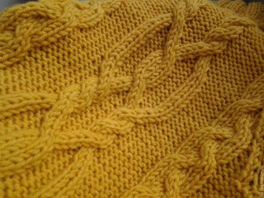 Кофты и свитера ручной работы. Ярмарка Мастеров - ручная работа. Купить свитер объемными косами. Handmade. Комбинированный, женский свитер